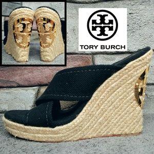Tory Burch Bailey Espadrille Wedge Sandal Heels